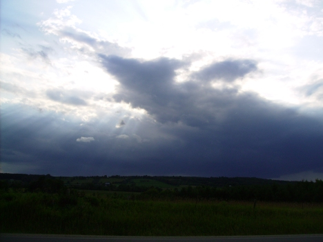 Darked sky